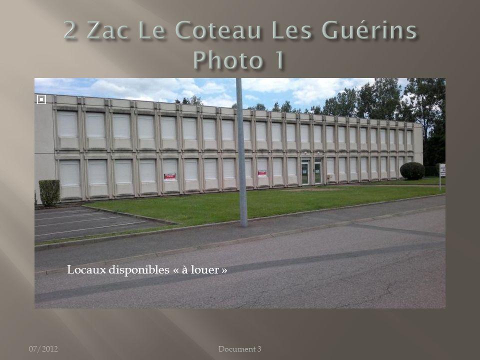 07/2012 Locaux disponibles « à louer » Document 3