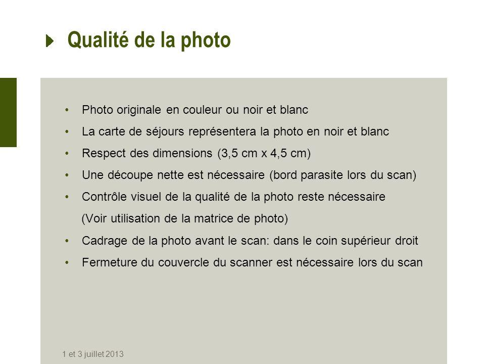 Qualité de la photo Photo originale en couleur ou noir et blanc La carte de séjours représentera la photo en noir et blanc Respect des dimensions (3,5