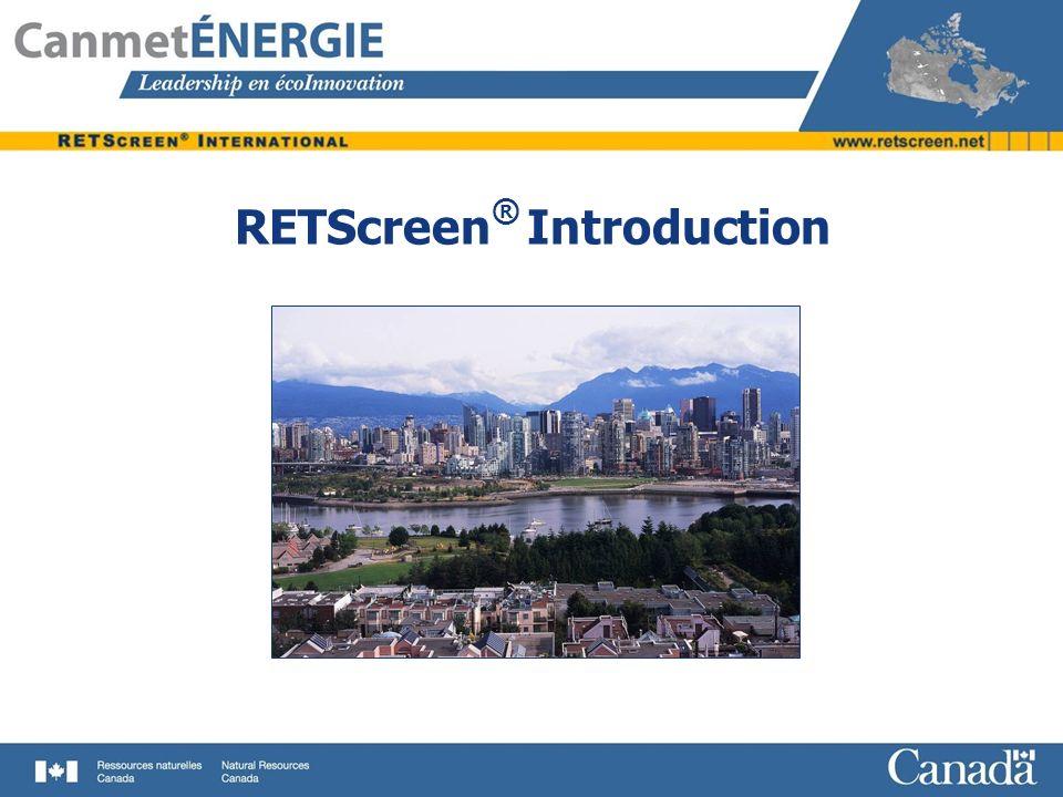 RETScreen ® Introduction