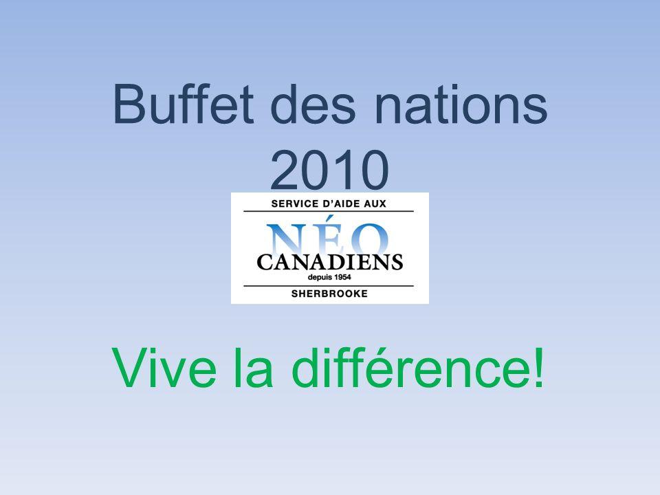 Buffet des nations 2010 Vive la différence!