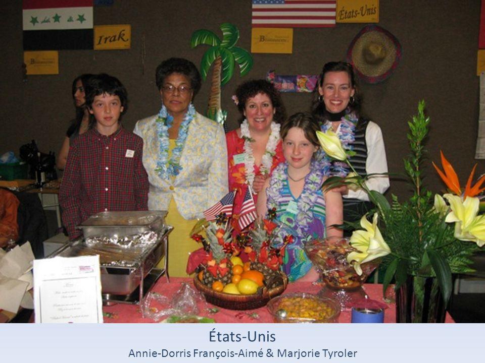 États-Unis Annie-Dorris François-Aimé & Marjorie Tyroler