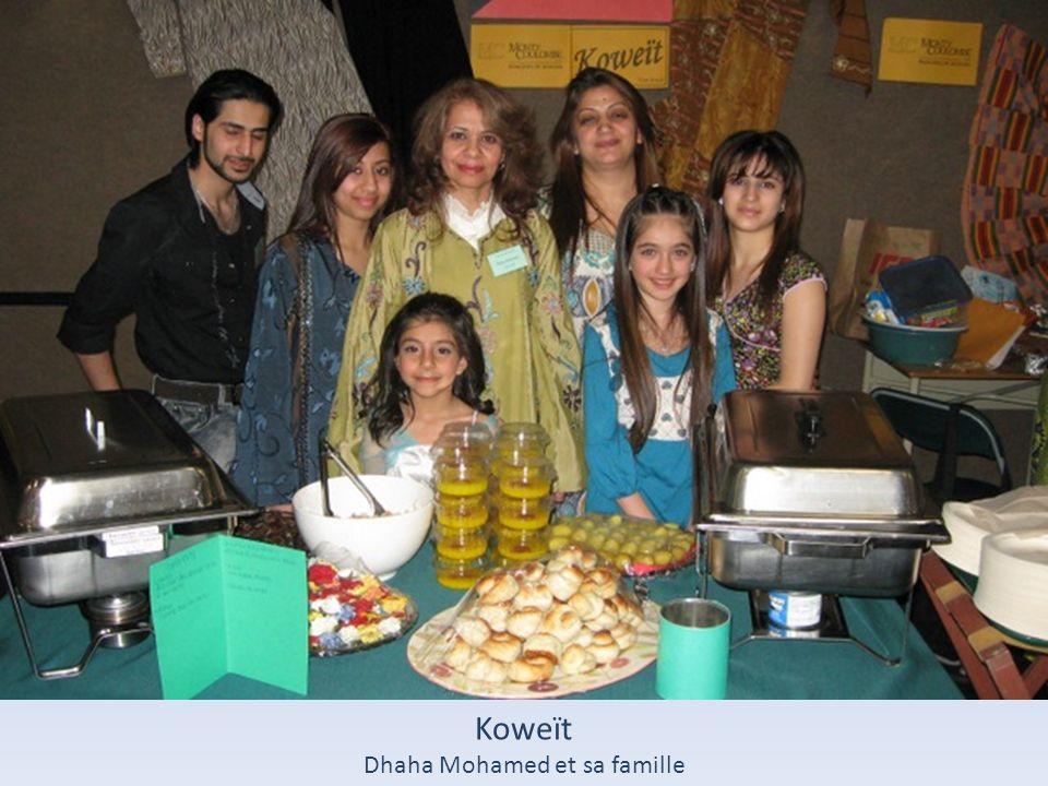 Koweït Dhaha Mohamed et sa famille