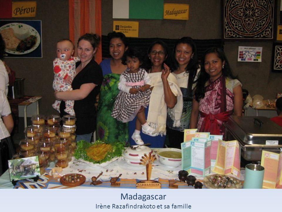 Madagascar Irène Razafindrakoto et sa famille