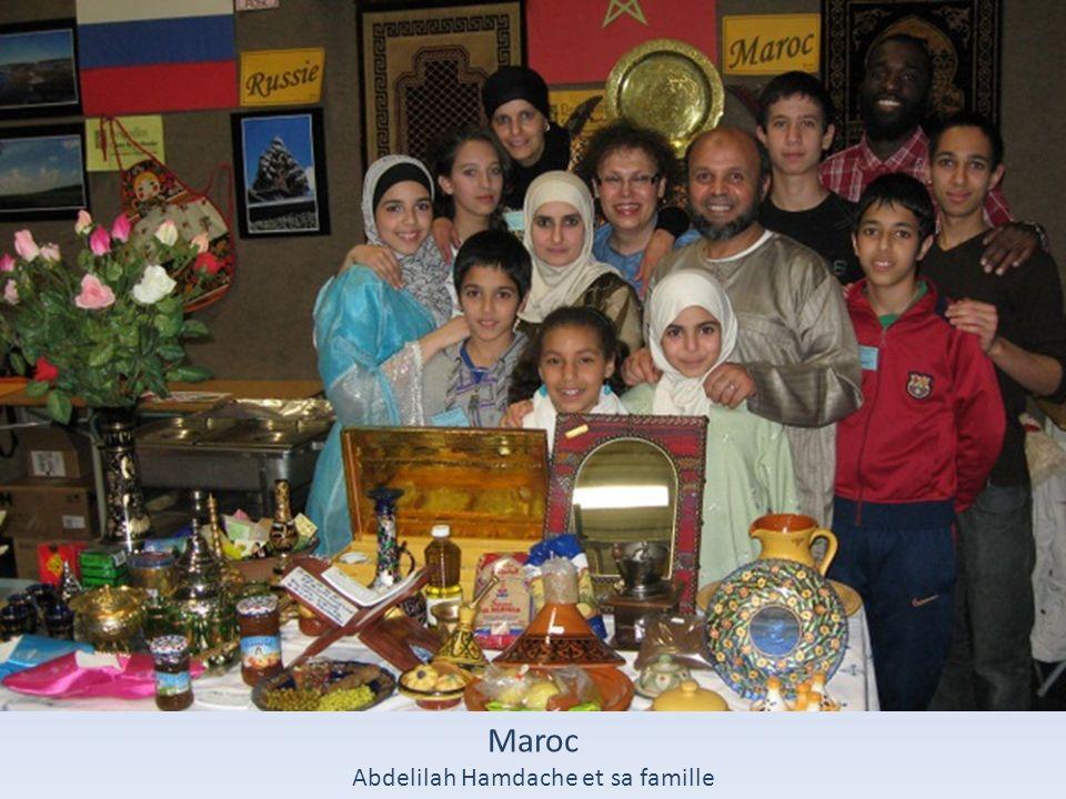 Maroc Abdelilah Hamdache et sa famille