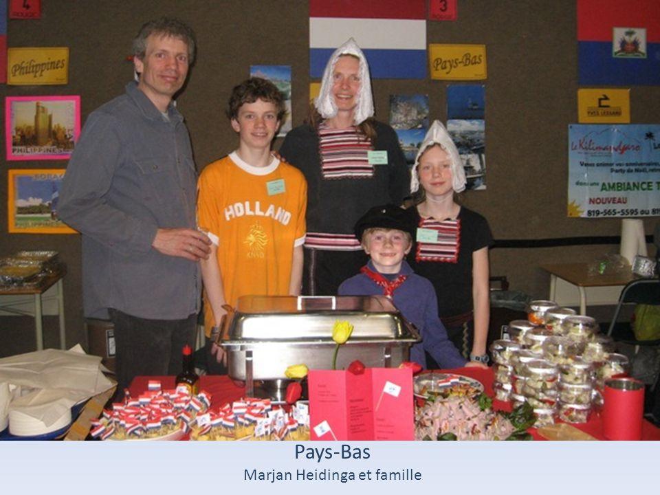 Pays-Bas Marjan Heidinga et famille