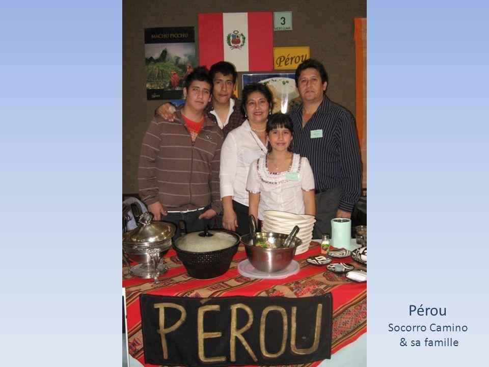 Pérou Socorro Camino & sa famille