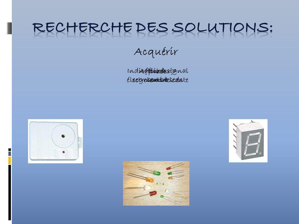 Acquérir Indicateur à signal sonore Afficheur 7 segments à leds Diode électroluminescente