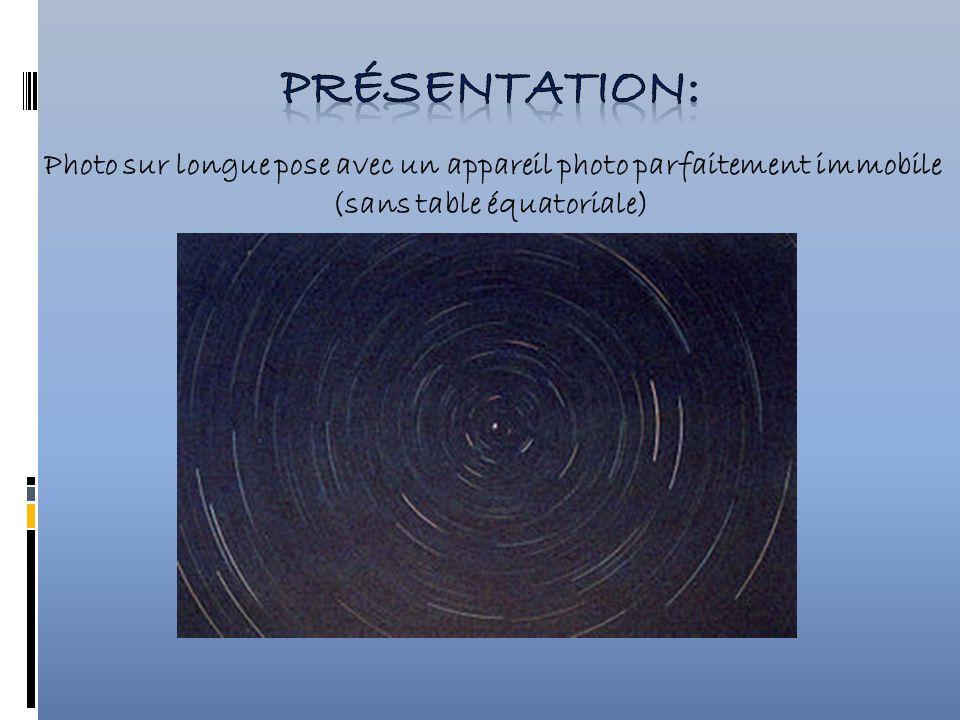 Réaliser des photographies des étoiles exploitables, c est-à-dire nettes et sans arcs de cercle.