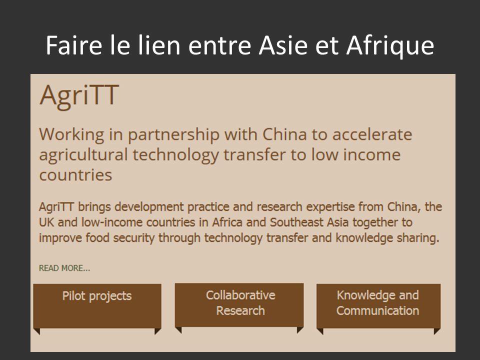 Faire le lien entre Asie et Afrique