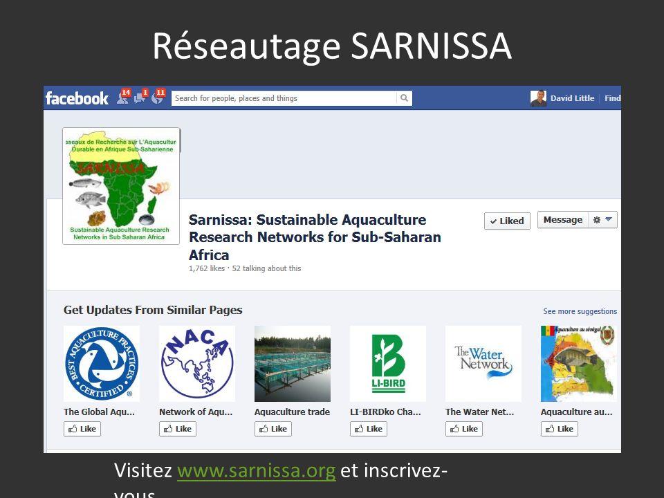 Réseautage SARNISSA Visitez www.sarnissa.org et inscrivez- vouswww.sarnissa.org