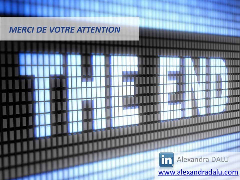 MERCI DE VOTRE ATTENTION Alexandra DALU www.alexandradalu.com