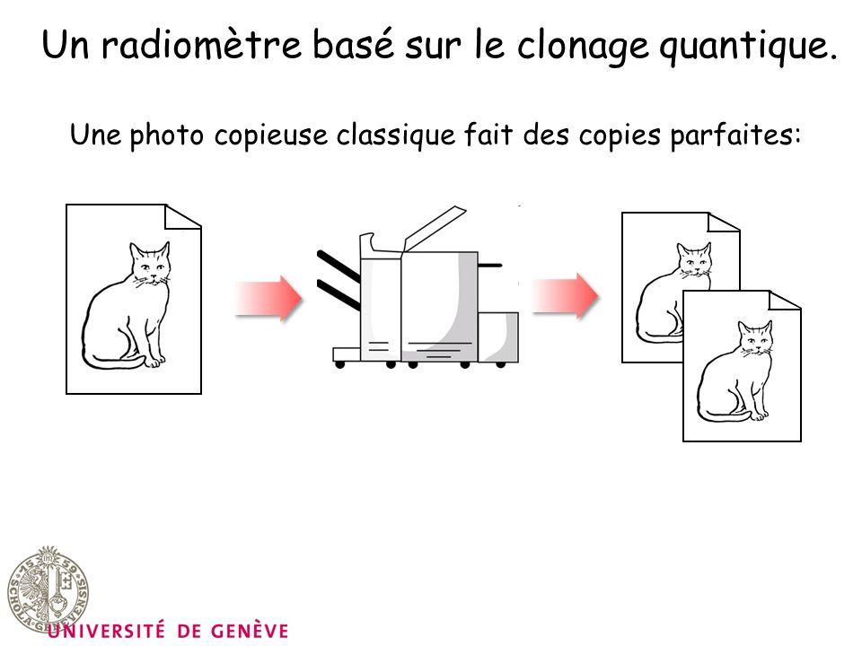 Un radiomètre basé sur le clonage quantique. Une photo copieuse classique fait des copies parfaites: