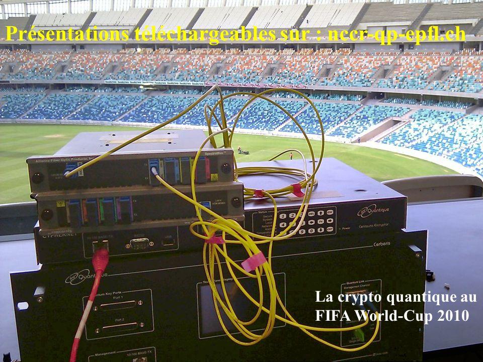 Présentations téléchargeables sur : nccr-qp-epfl.ch La crypto quantique au FIFA World-Cup 2010