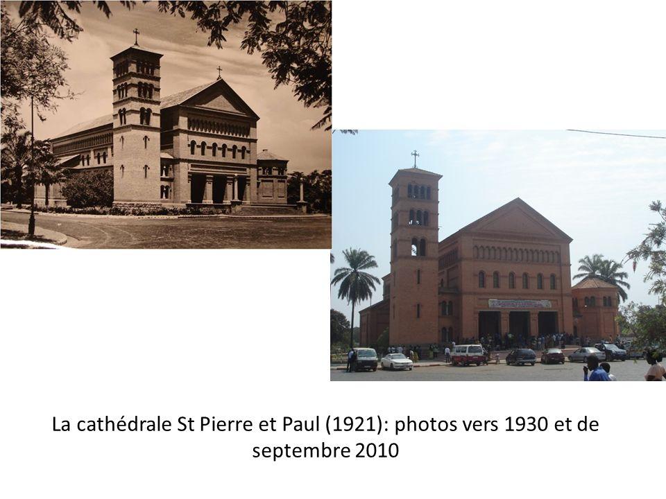 La cathédrale St Pierre et Paul (1921): photos vers 1930 et de septembre 2010