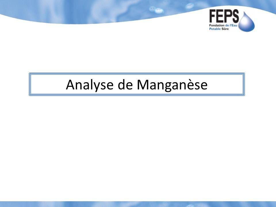 Analyse de Manganèse
