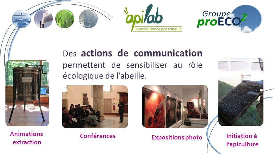 Des actions de communication permettent de sensibiliser au rôle écologique de labeille.