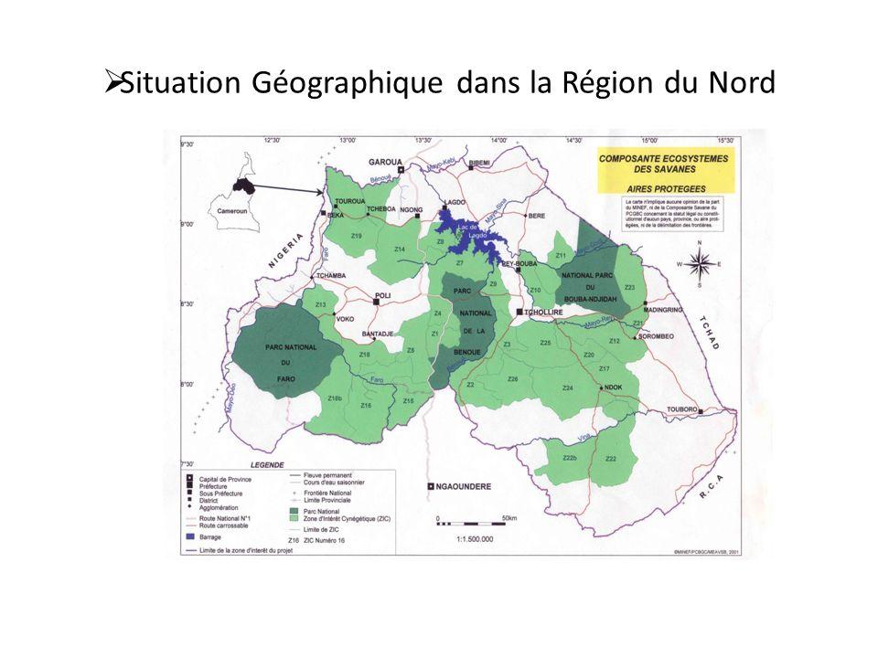 Situation Géographique dans la Région du Nord