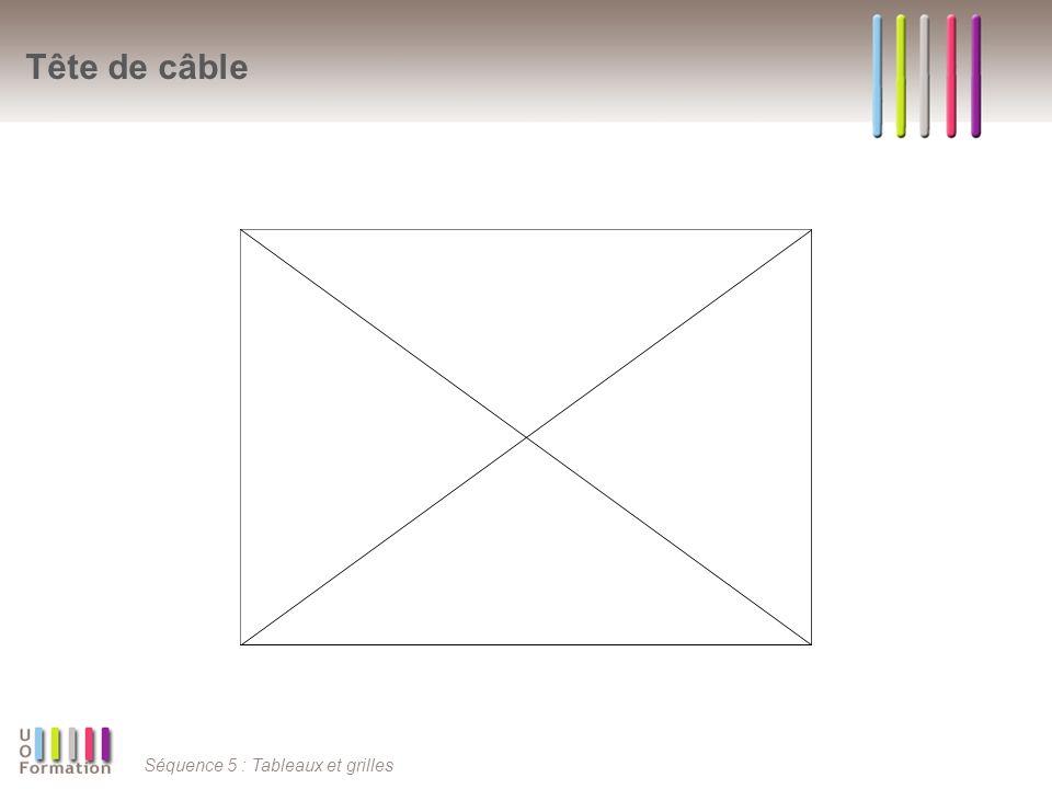 Séquence 5 : Tableaux et grilles Tête de câble