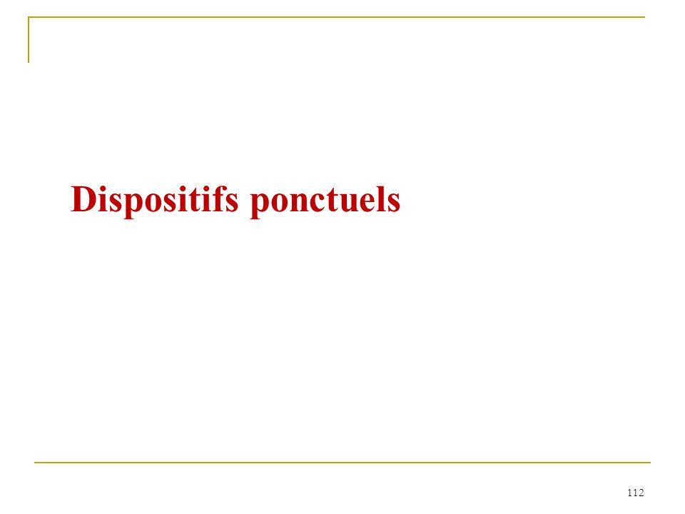 112 Dispositifs ponctuels