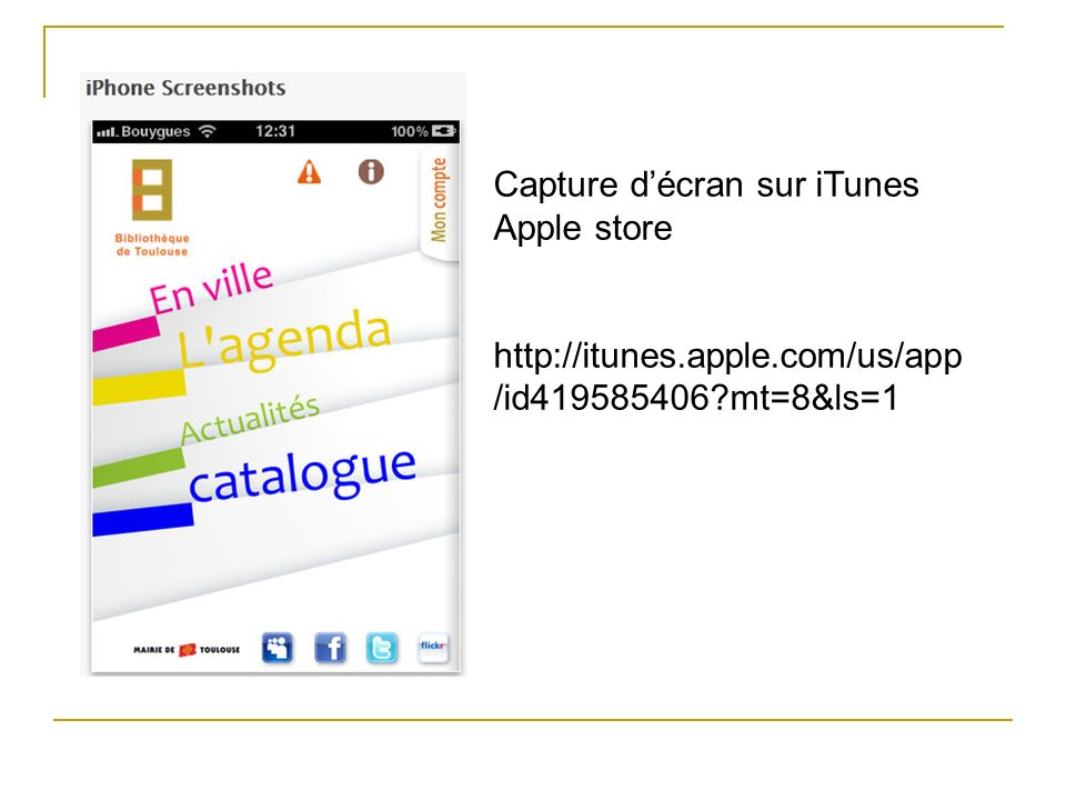 Capture décran sur iTunes Apple store http://itunes.apple.com/us/app /id419585406?mt=8&ls=1