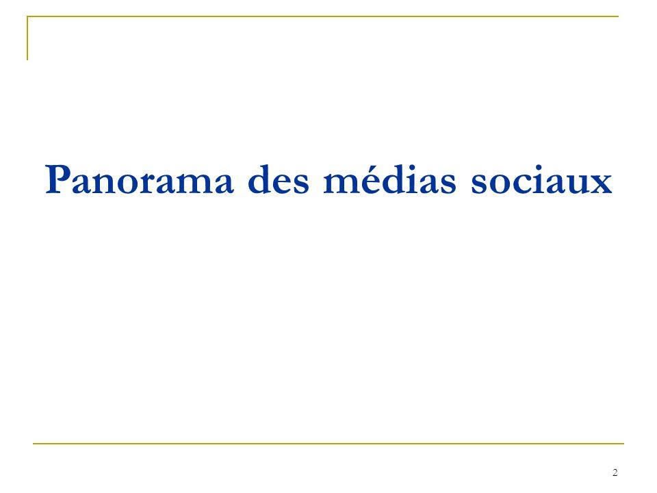 2 Panorama des médias sociaux