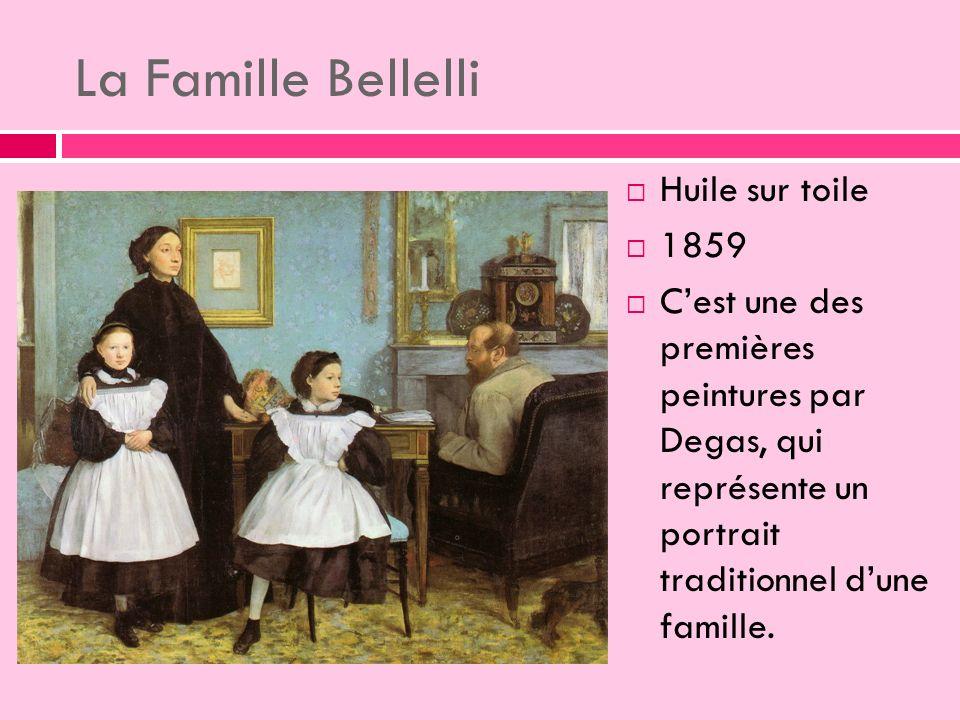 La Famille Bellelli Huile sur toile 1859 Cest une des premières peintures par Degas, qui représente un portrait traditionnel dune famille.