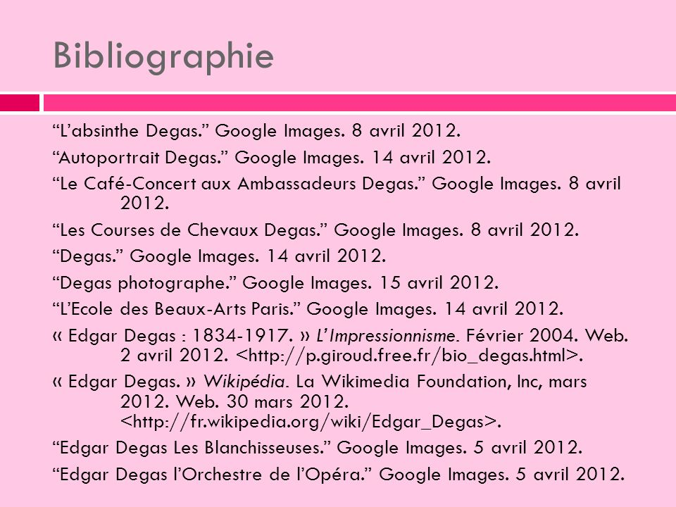 Bibliographie Labsinthe Degas.Google Images. 8 avril 2012.