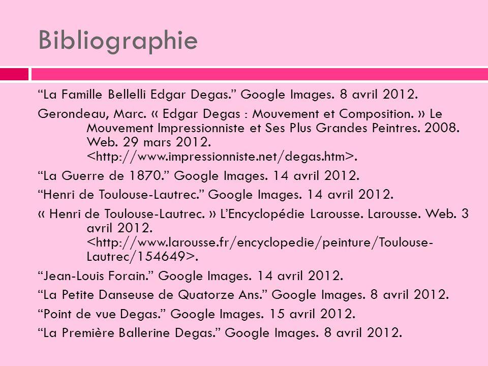 Bibliographie La Famille Bellelli Edgar Degas.Google Images.