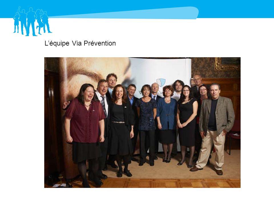 Diane Reid, Via Prévention Laurent Gratton, ancien administrateur Via Prévention Marie Ménard, ASP Imprimerie - Denise Turenne, Centre patronal SST