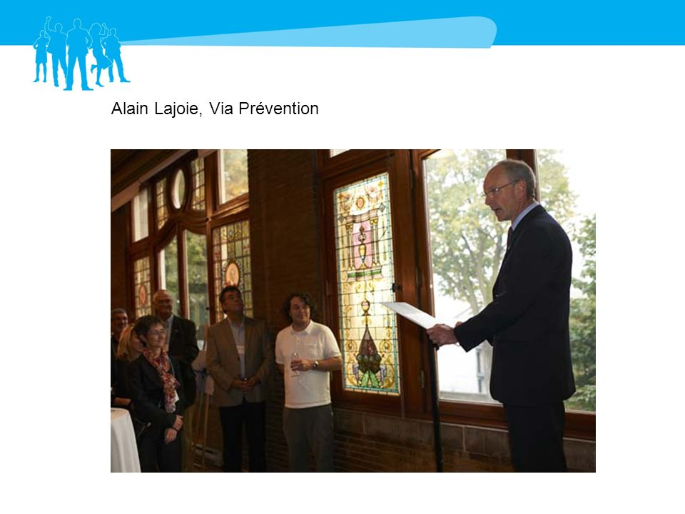 Alain Michaud, administrateur Via Prévention Pierre Caron, Teamsters