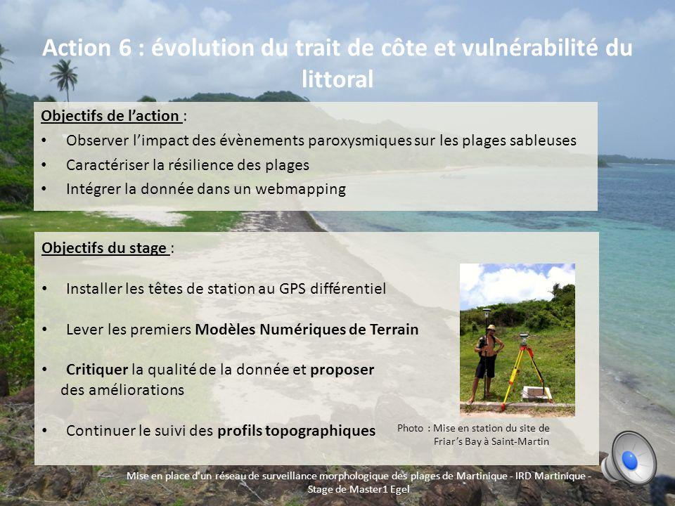Le projet Caribsat : Un système dinformation environnemental à léchelle des Petites Antilles 2 Mise en place d'un réseau de surveillance morphologique