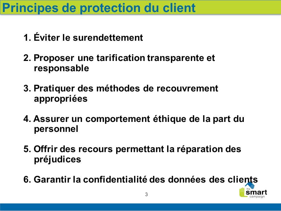 3 1. Éviter le surendettement 2. Proposer une tarification transparente et responsable 3.