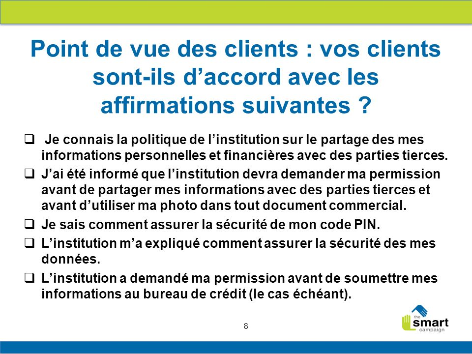 19 1.Principes de protection des clients 2. Principe 6 en pratique 3.