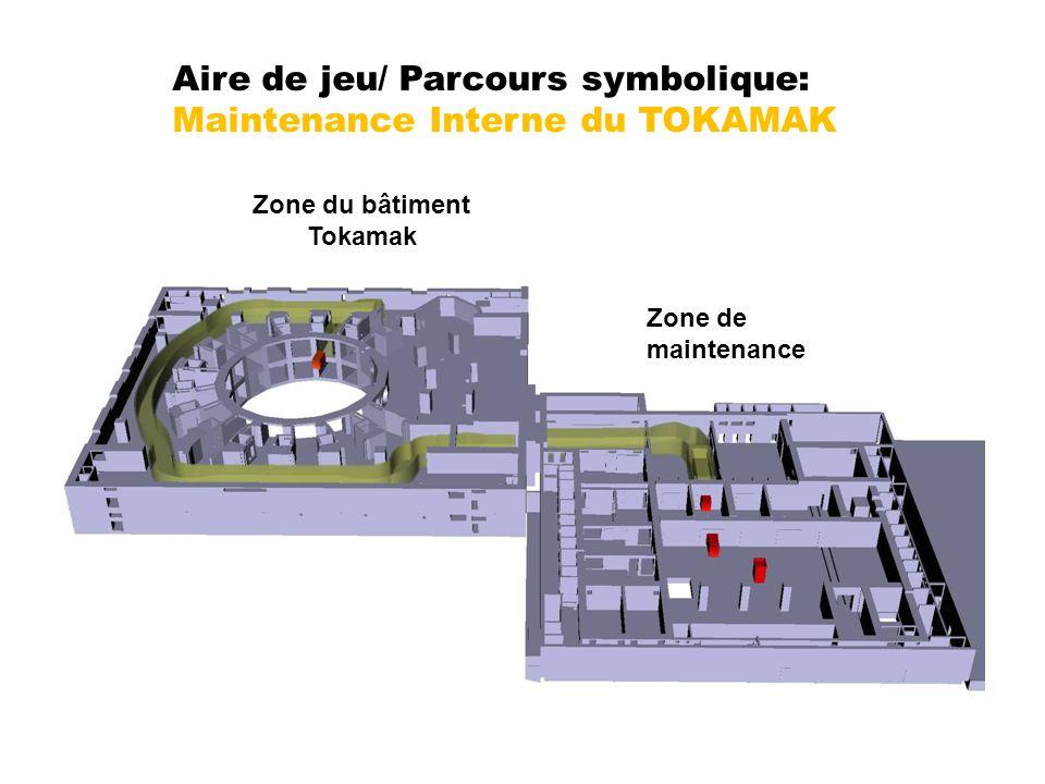 Zone du bâtiment Tokamak Zone de maintenance Aire de jeu/ Parcours symbolique: Maintenance Interne du TOKAMAK