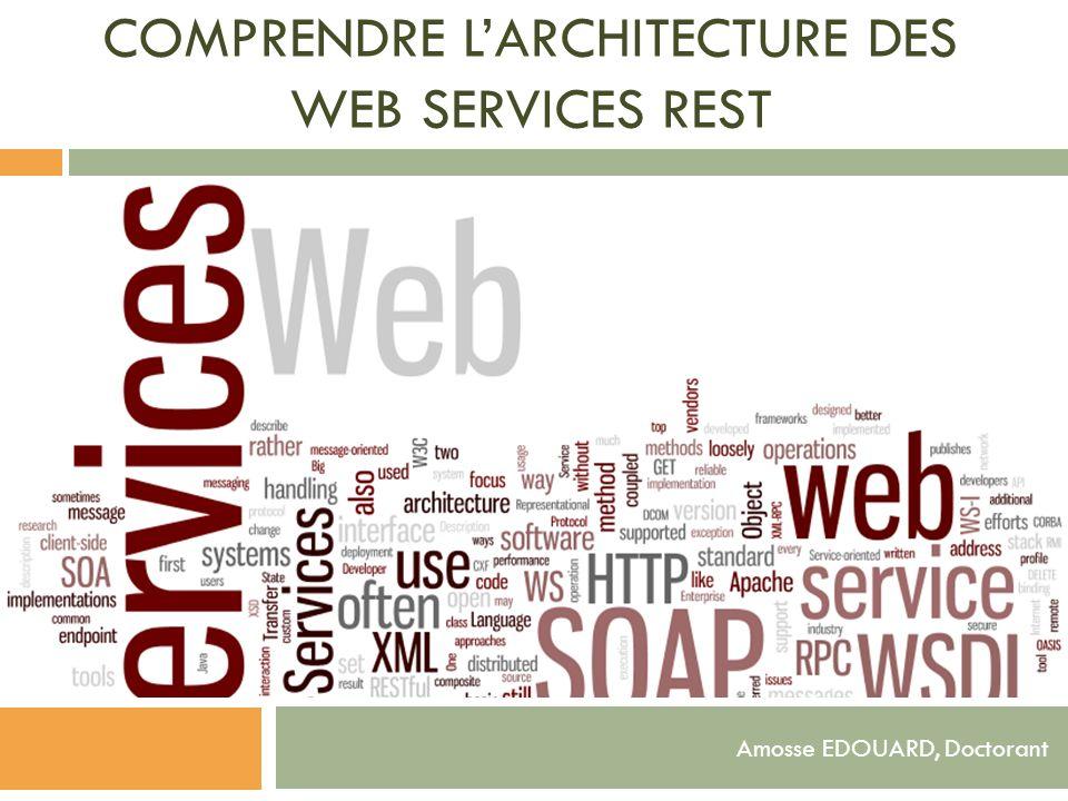 COMPRENDRE LARCHITECTURE DES WEB SERVICES REST Amosse EDOUARD, Doctorant