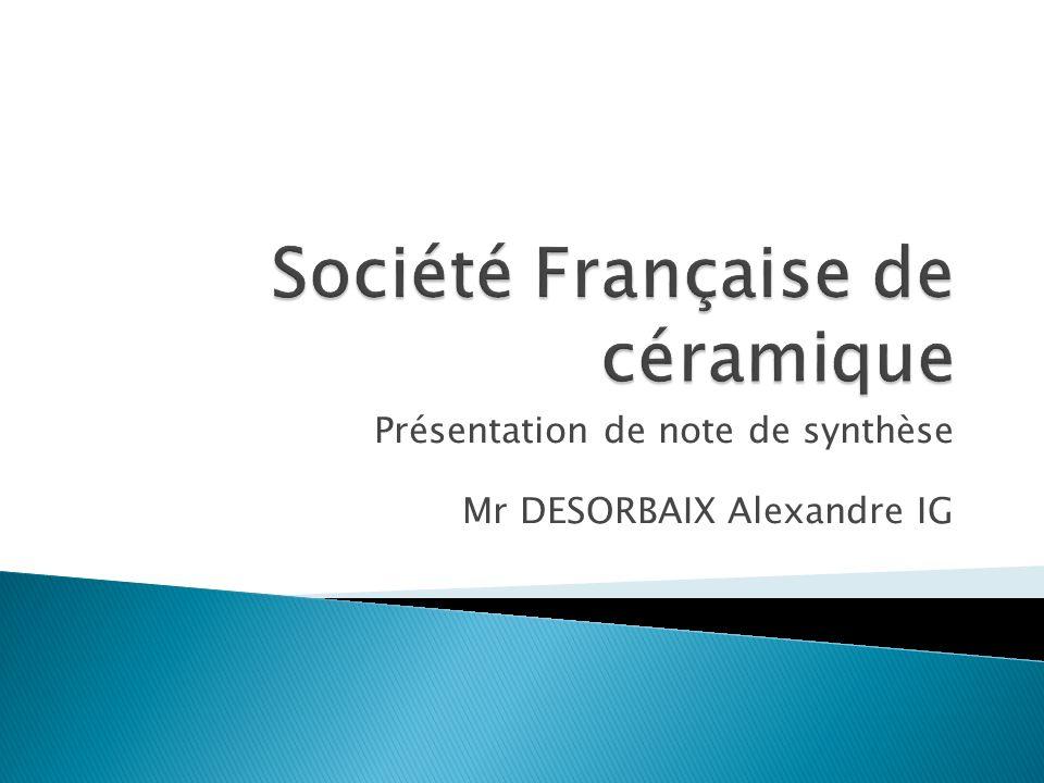 Présentation de note de synthèse Mr DESORBAIX Alexandre IG