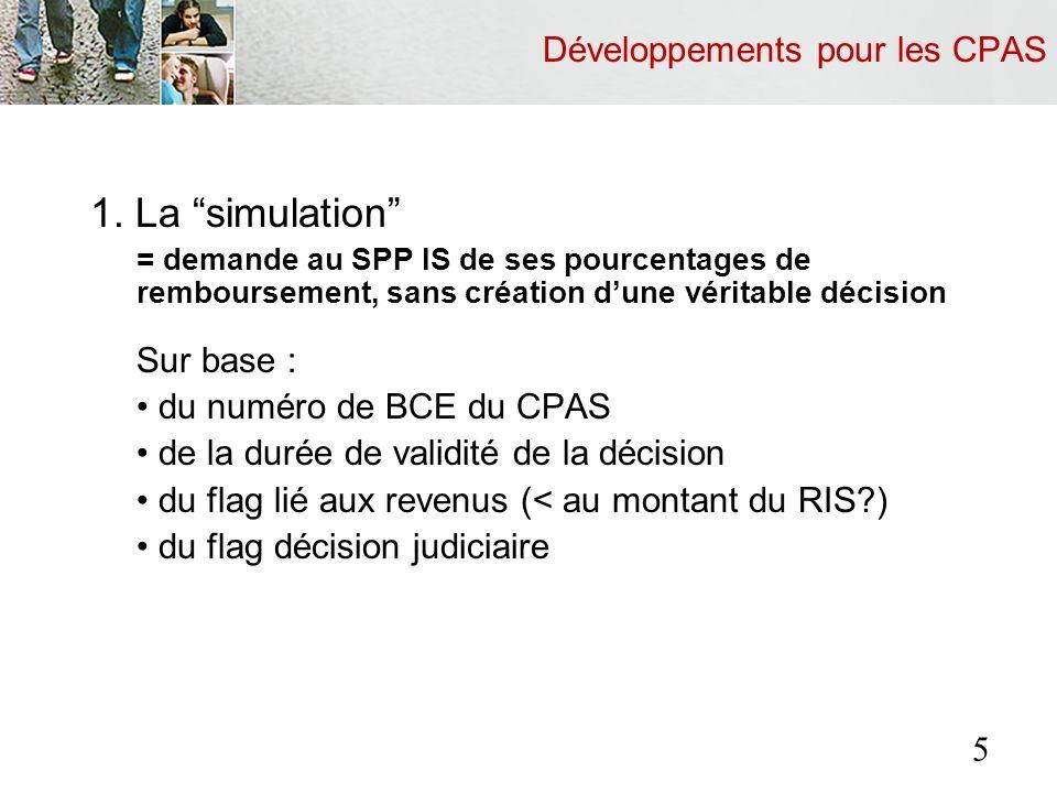Développements pour les CPAS 1.