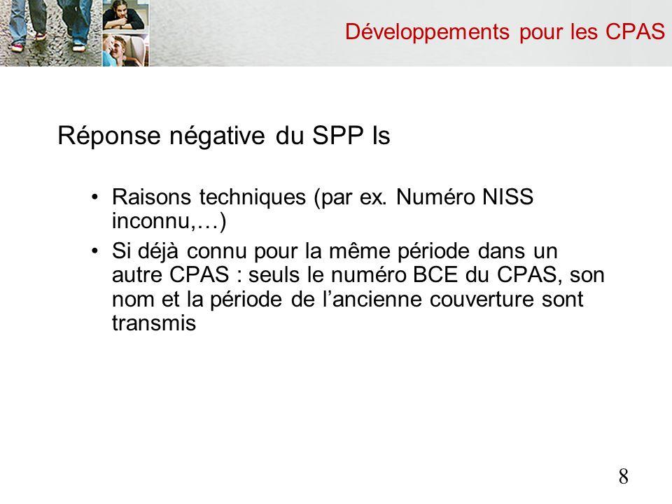 Templates 29 Contenu : Logo, identification du CPAS compétent Titulaire : Photo Numéro NISS Nom Prénom Mineurs : Numéro NISS Nom Prénom