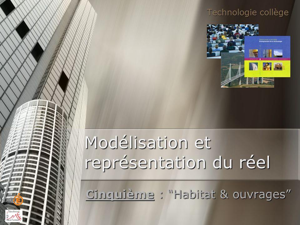 Modélisation et représentation du réel Cinquième : Habitat & ouvrages Technologie collège