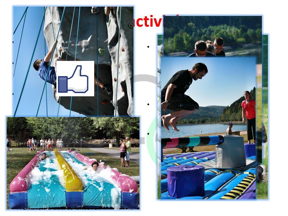 Les activités Plus de 18 activités sont à découvrir. De la Poussé de 4L en passant par le Paintball et bien dautres encore! Vous connaissez déjà: – Bo
