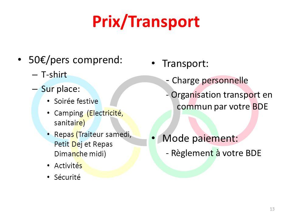 Prix/Transport 50/pers comprend: – T-shirt – Sur place: Soirée festive Camping (Electricité, sanitaire) Repas (Traiteur samedi, Petit Dej et Repas Dim