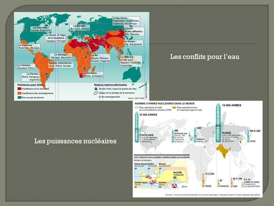 Différentes organisations intergouvernementales