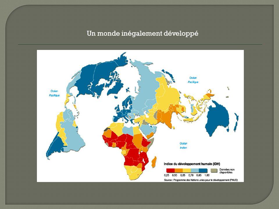Un monde inégalement développé