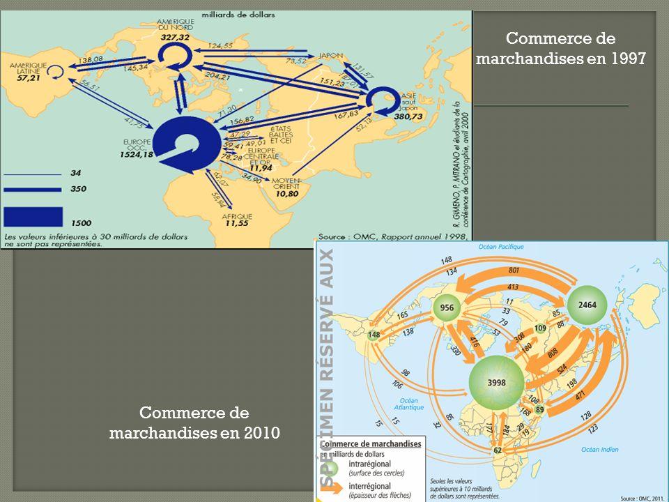 Commerce de marchandises en 1997 Commerce de marchandises en 2010