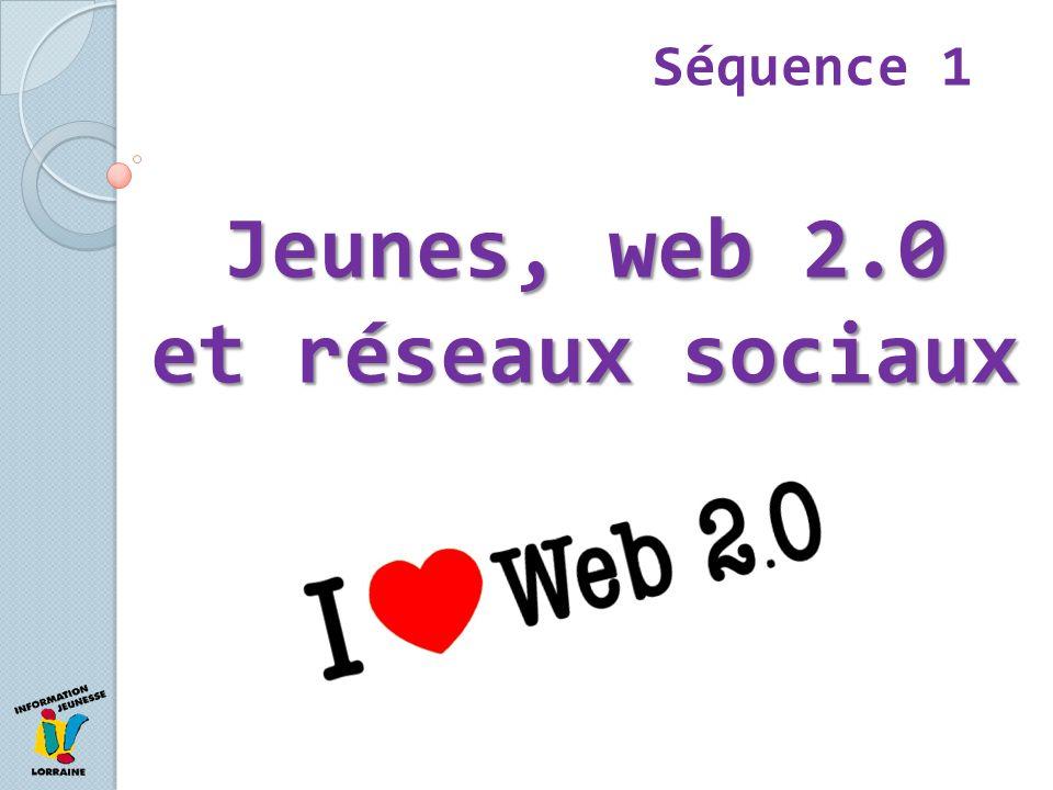 1- Le web 2.0 et les médias sociaux Séquence 1 Web 2.0 = simple évolution technique… …mais révolution des usages Tout internaute peut produire du contenu Le Web devient communautaire