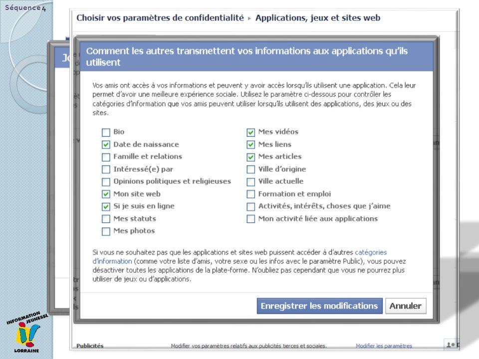 Séquence 4 Autres paramètres de confidentialité