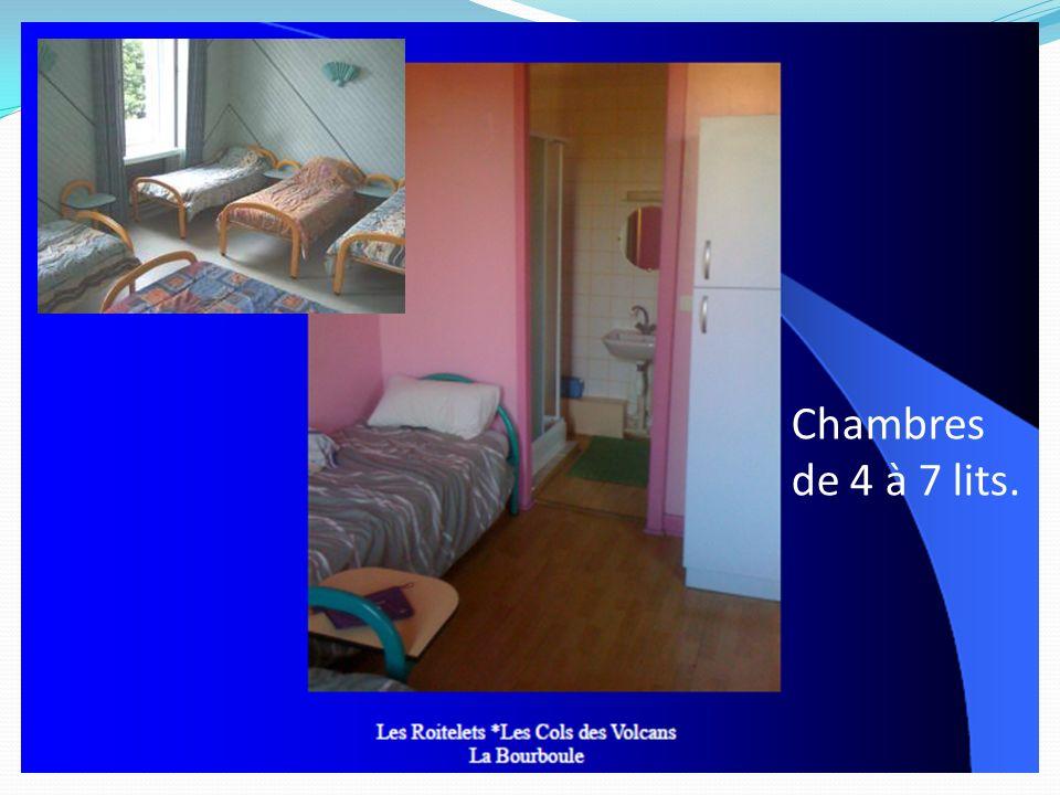 Chambres de 4 à 7 lits.