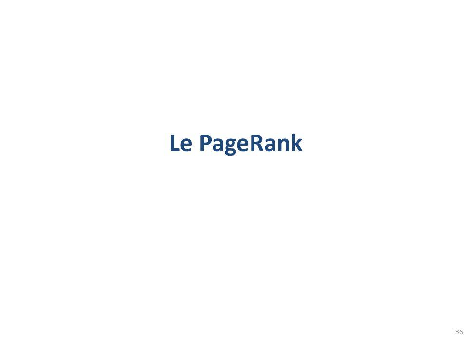 Le PageRank 36