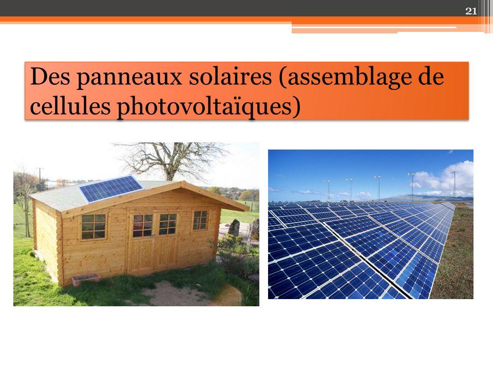Des panneaux solaires (assemblage de cellules photovoltaïques) 21