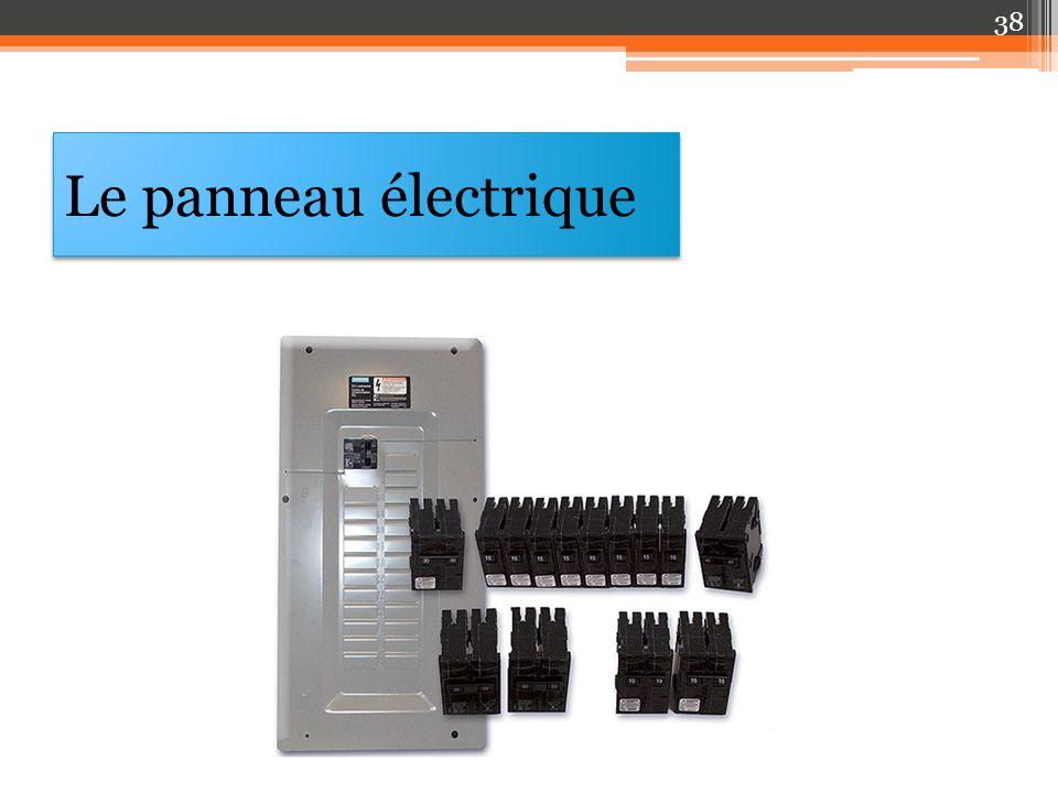 Le panneau électrique 38